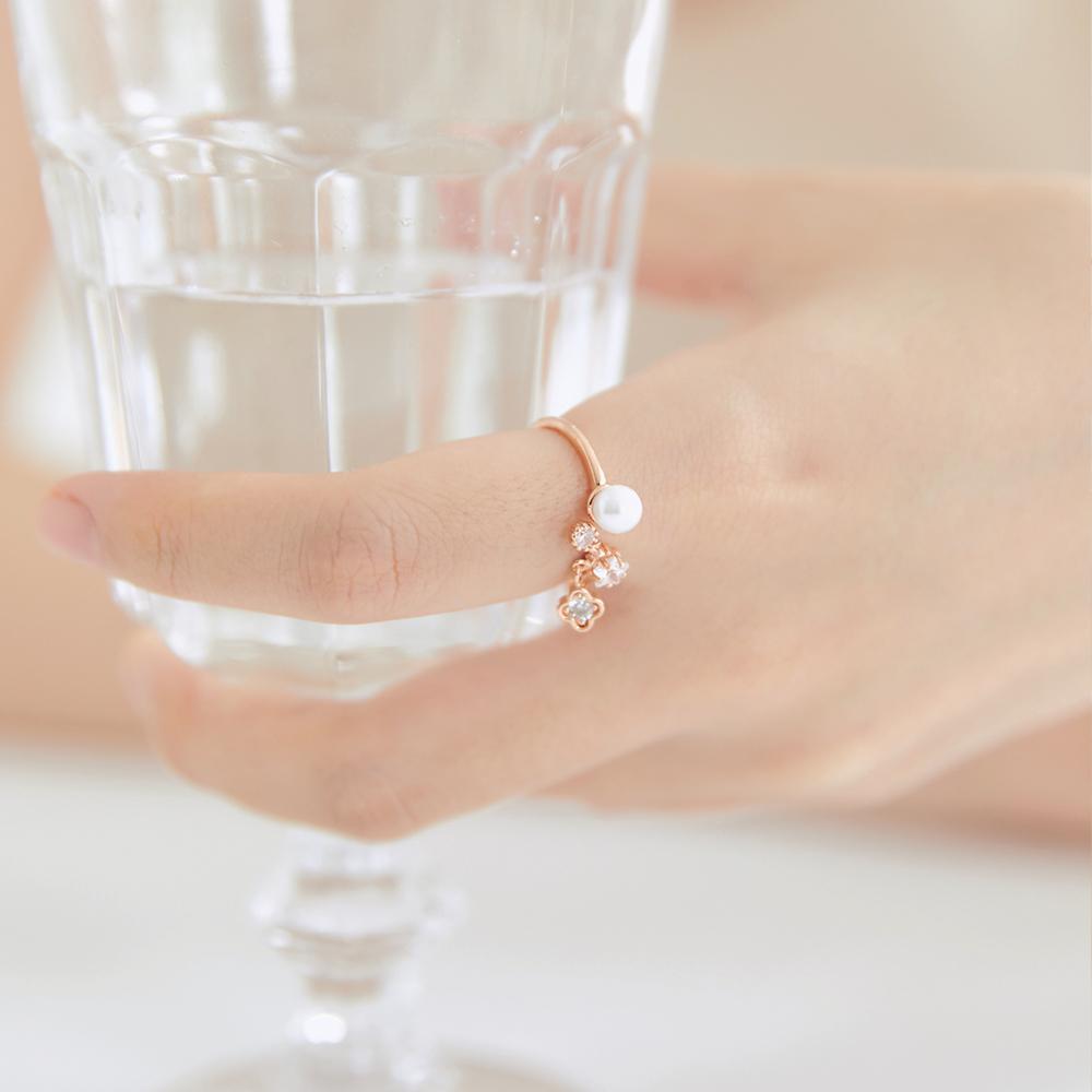 [미코주얼리] 플린 진주 반지 MK2R3