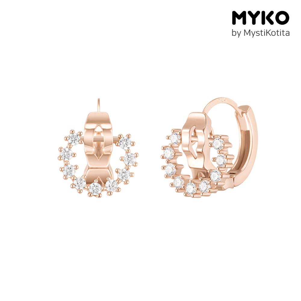 [미코주얼리] 14k 핀 크로셔 귀걸이 MK3EC34