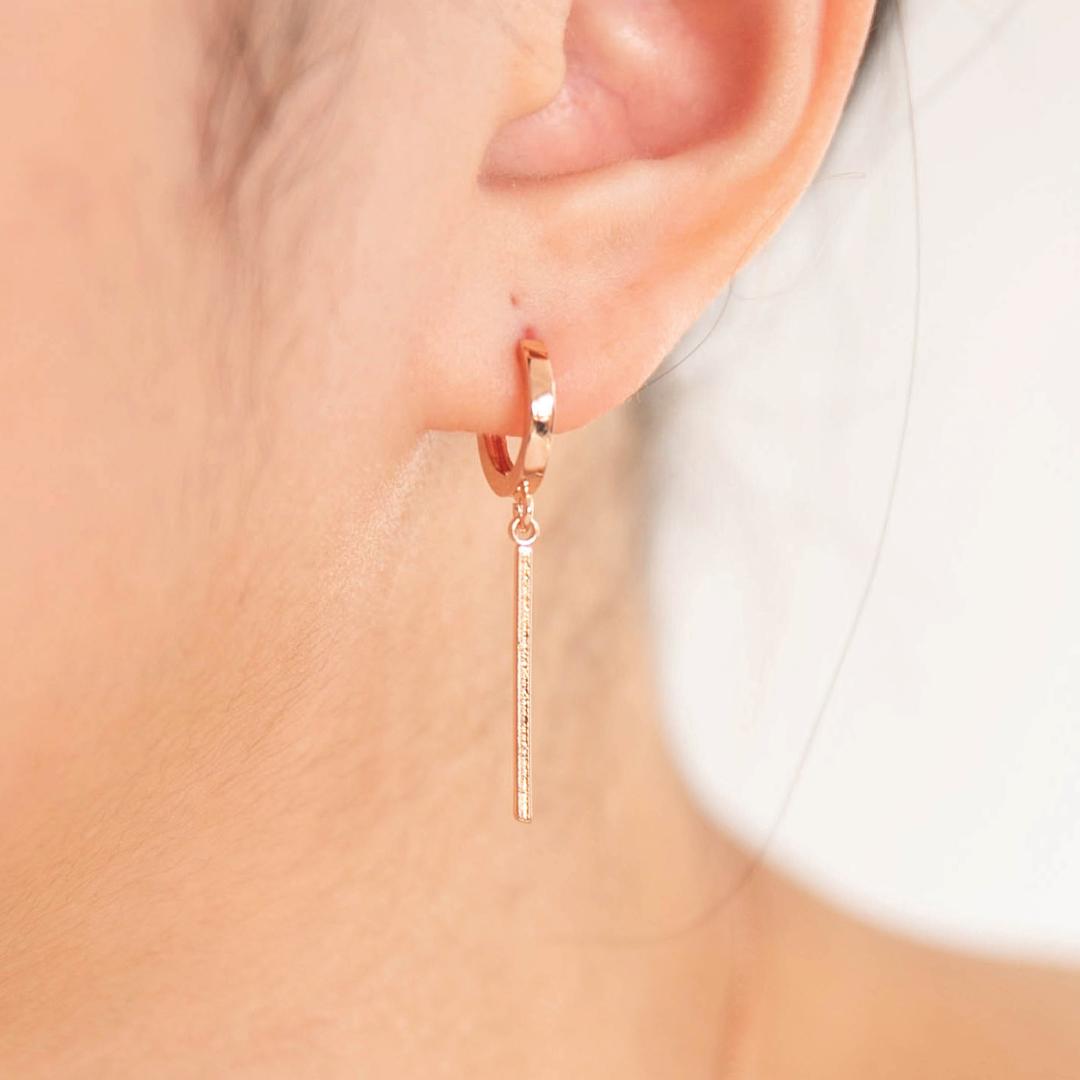 [미코주얼리] 14k 핀 록비 귀걸이 MK3EC44