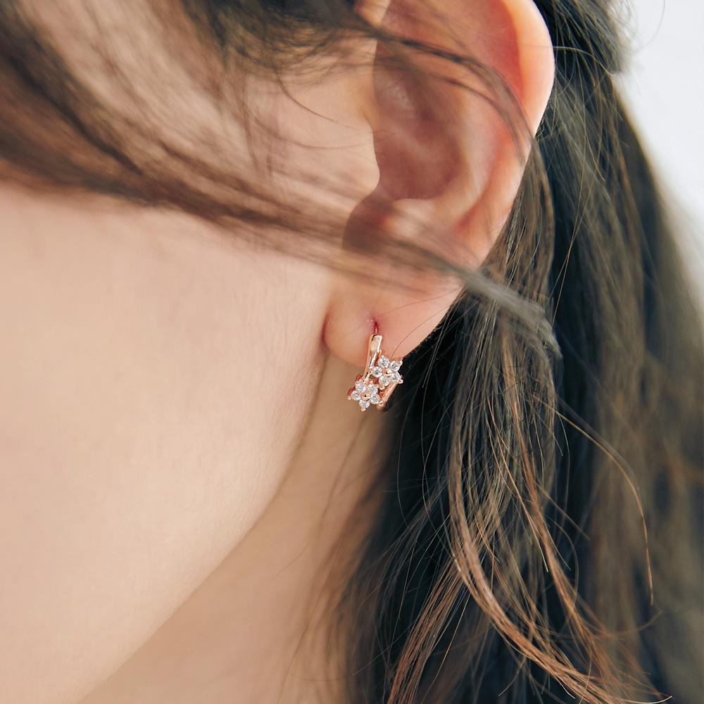 [미코주얼리] 14k 핀 트위닝 귀걸이 MK3EC46