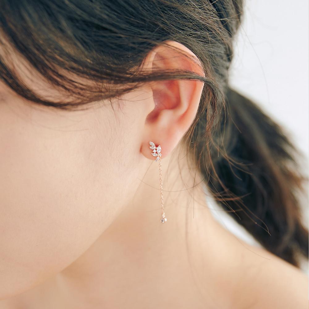 [미코주얼리] 14k 핀 이브웬 귀걸이 MK3EI12