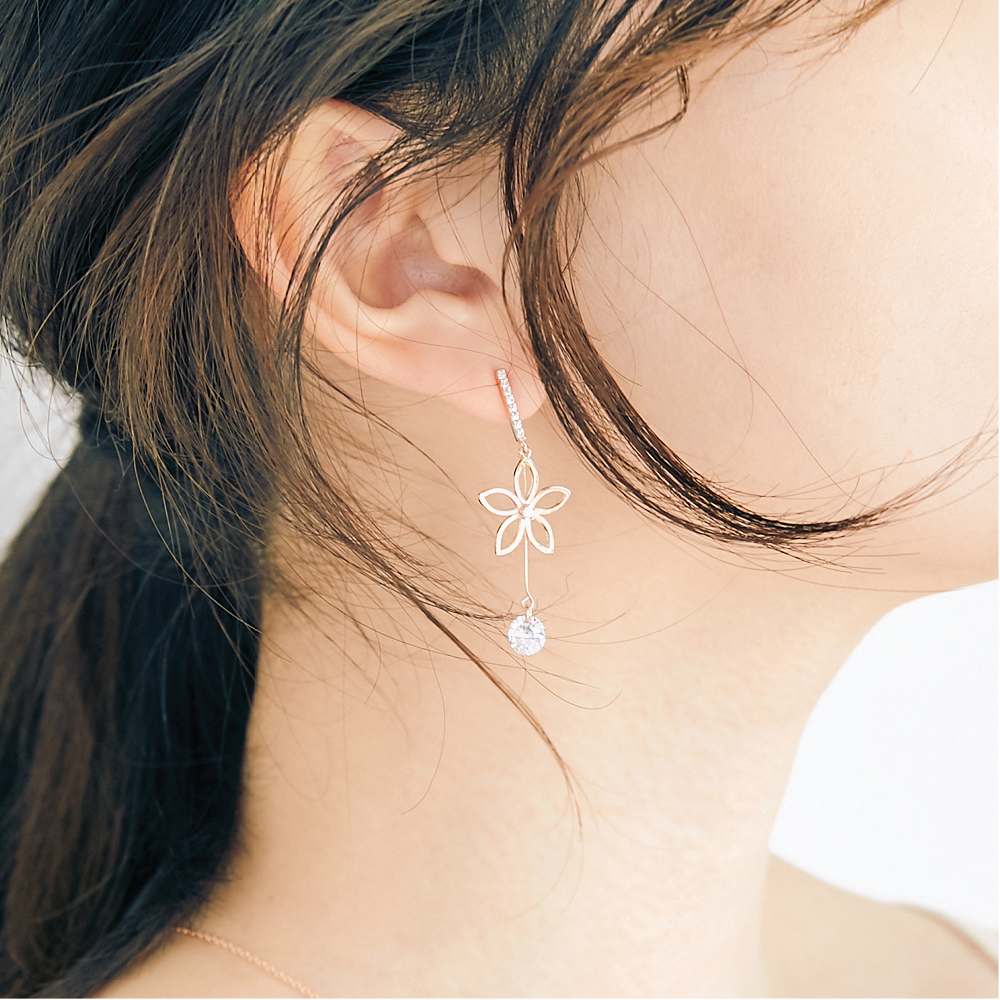 [미코주얼리] 14k 핀 슈비셀 귀걸이 MK3EI3